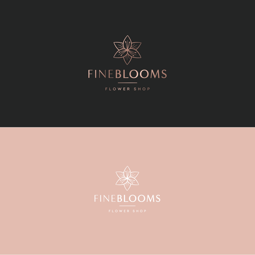 Bloom design with the title 'Logo for Fine Blooms'