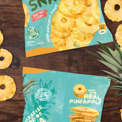 Concept packaging for dried pineapples
