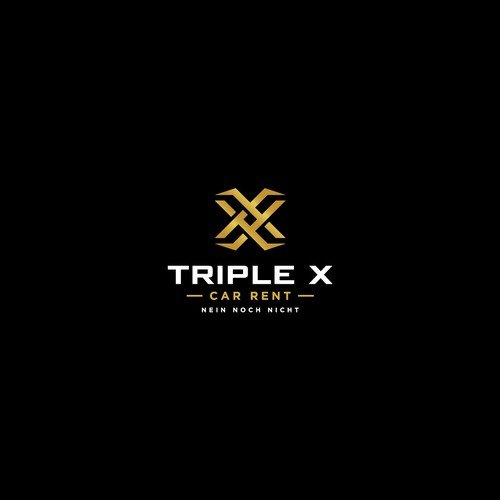 Car rental logo with the title 'logo concept for triple x'