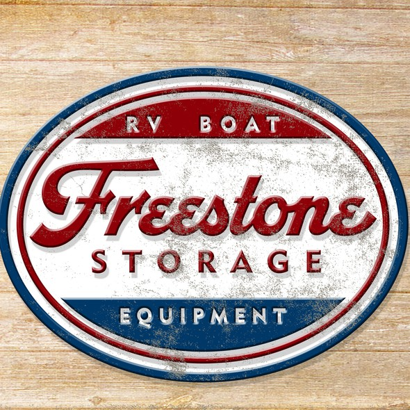 RV logo with the title 'Freestone Logo'