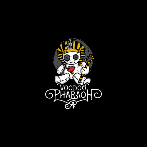Voodoo logo with the title 'Logo Concept for Voodoo Pharaoh'