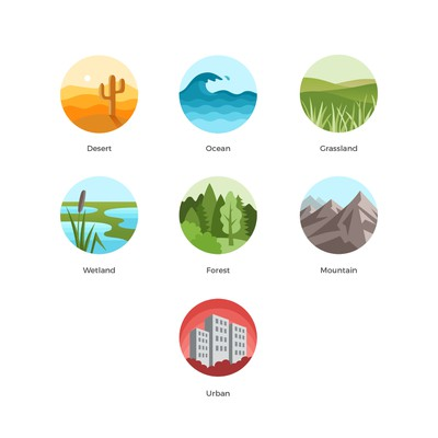 Design of habitat icons for a nature app