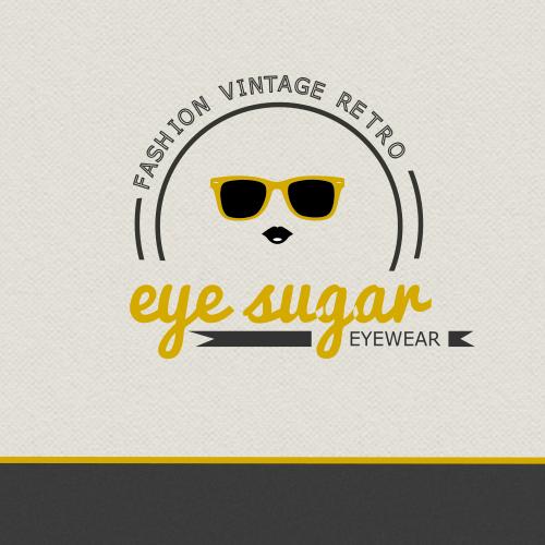 Eyeglass logo with the title 'Logo for Eyesugar'