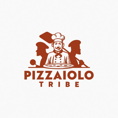 Tribe logo with the title 'Pizzaiolo Tribe logo design'