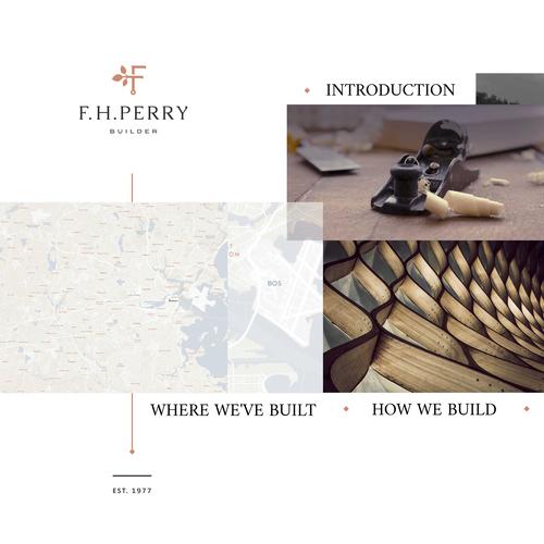 Prezi design with the title 'F.H. Perry Business Presentation Design'
