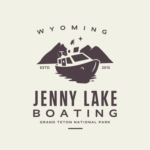 Boat design with the title 'Jenny Lake Baoting'