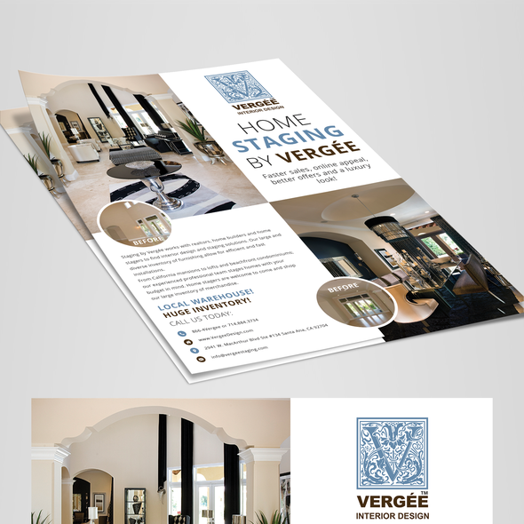 A4 design with the title 'Staging Flyer to Attract Builders and Realtors'