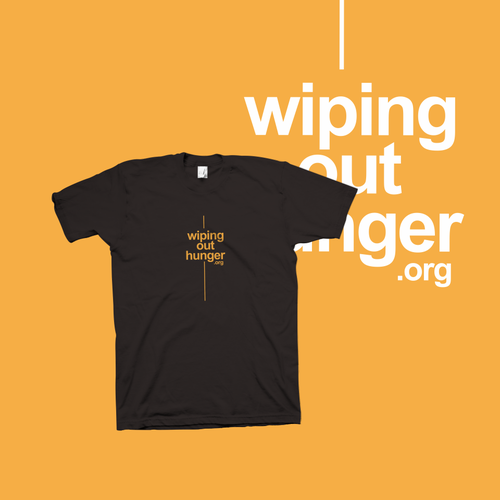 Logo t-shirt with the title 'Wiping Out Hunger.org'