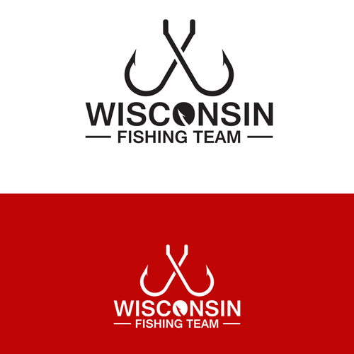 Fishing boat design with the title 'Wisconsin Fishing Team Logo Contest'