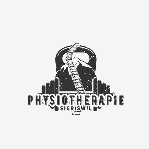 Spine logo with the title 'Physiotherapie Sigriswil'