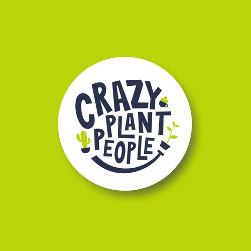Cactus design with the title 'Sophisticated Fun Logo Concept for Crazy Plant People'