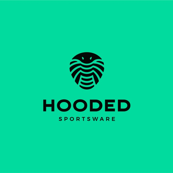 Cobra design with the title 'Hooded Sportsware'