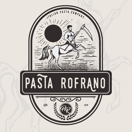 Pasta logo with the title 'Pasta Rofrano'