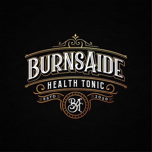 Tonic design with the title 'VINTAGE LOGO FOR HEALTH TONIC'