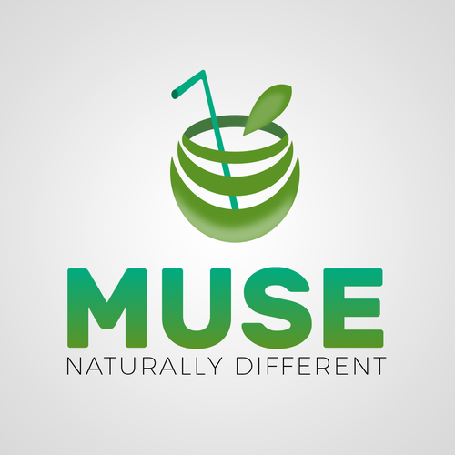 Vitality logo with the title 'Logo concept for natural juice company.'