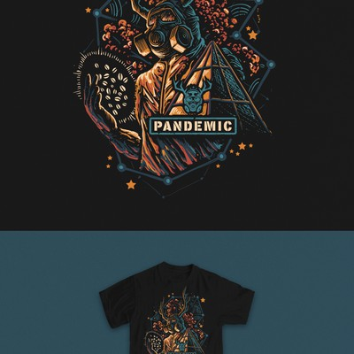 pandemic cafe t-shirt design