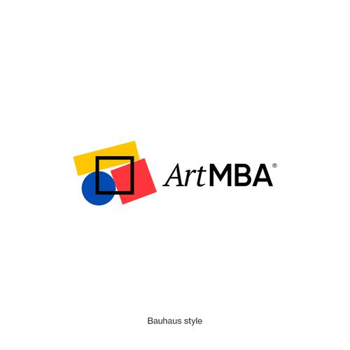 Bauhaus logo with the title 'ArtMBA'