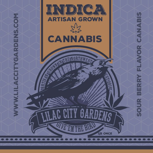 Weed packaging with the title 'branding for a small marijuana brand'