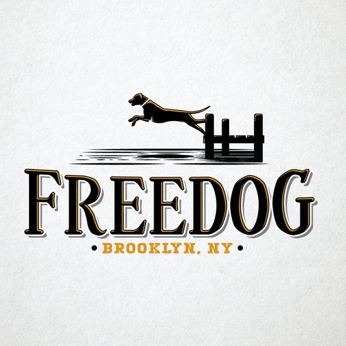 Freedom design with the title 'Free Dog'