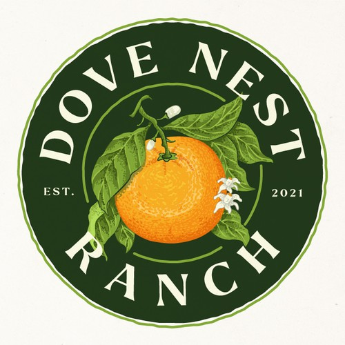Orange logo with the title 'Dove Nest Ranch'
