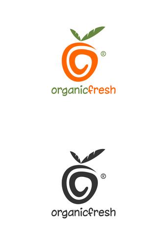 Peach design with the title 'organic fresh'
