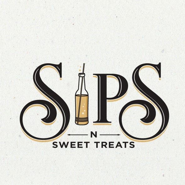 Soda logo with the title 'Logo Design For Sips'