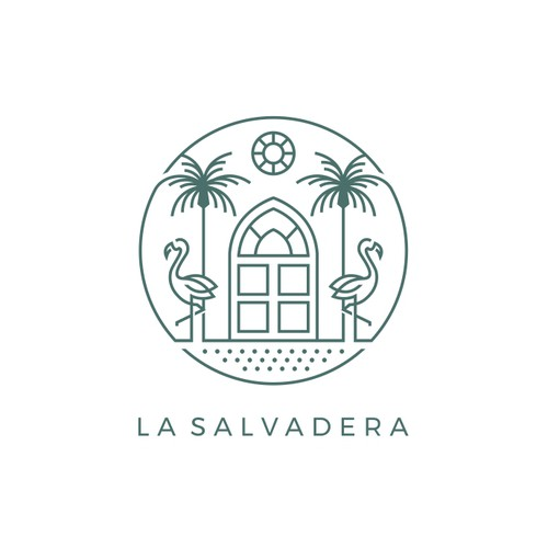Eye-catching logo with the title 'Logo Design for La Salvadera'