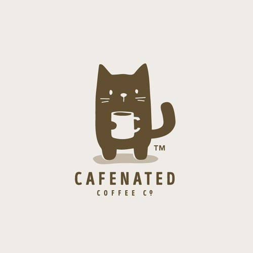 Coffee brand logo with the title 'Cafenated'