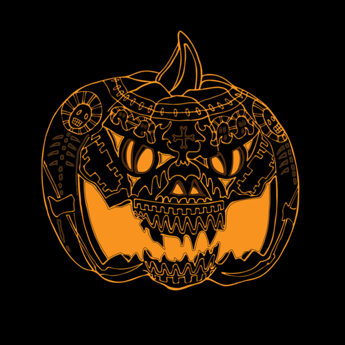 Halloween t-shirt with the title 'tikvenjak 1'