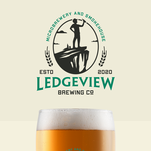 Drink logo with the title 'Ledgeview Brewing Co'