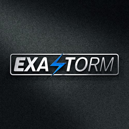 Storm logo with the title 'Logo fot tech store'