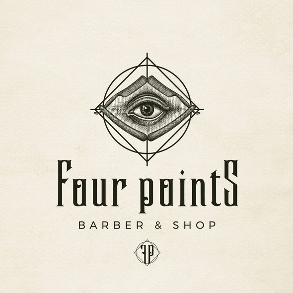 Alchemy logo with the title 'Brand image for Four Points - Barber & Shop'