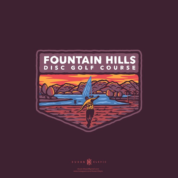 Fountain logo with the title 'Fountain Hills Disc Golf Course'