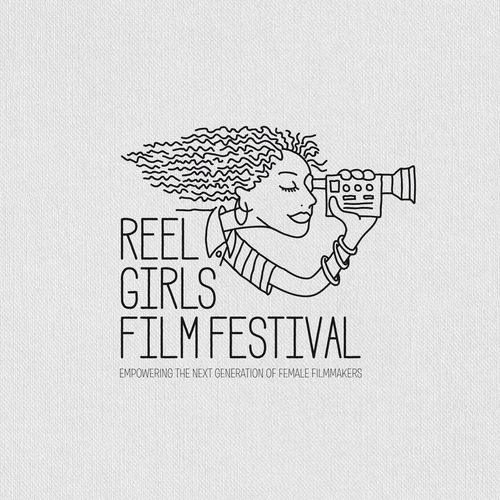 Festival logo with the title 'A Design for a Festival of young female filmmakers'