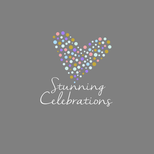 Event planning brand with the title 'Stunning Celebrations'