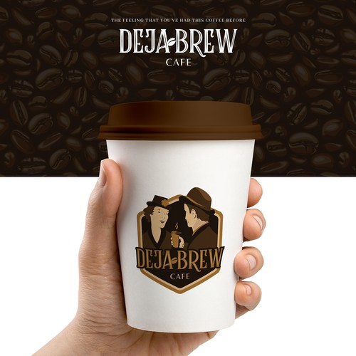 Classic brand with the title 'Retro Cafe Logo Design'