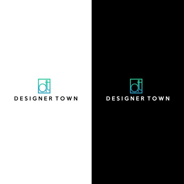 Clothing logo with the title 'Designer Town'