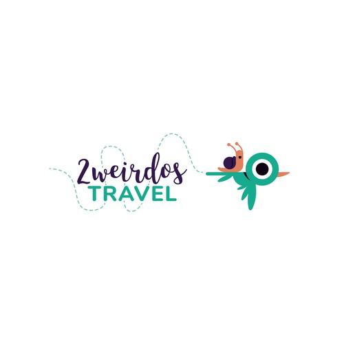 Blog logo with the title '2 weirdos travel'