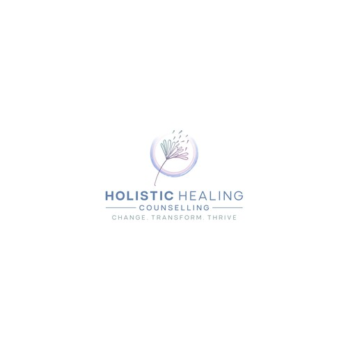 Thrive design with the title 'Holistic Healing Counselling'