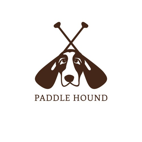 Paddle board logo with the title 'Paddle Hound Company Launch'