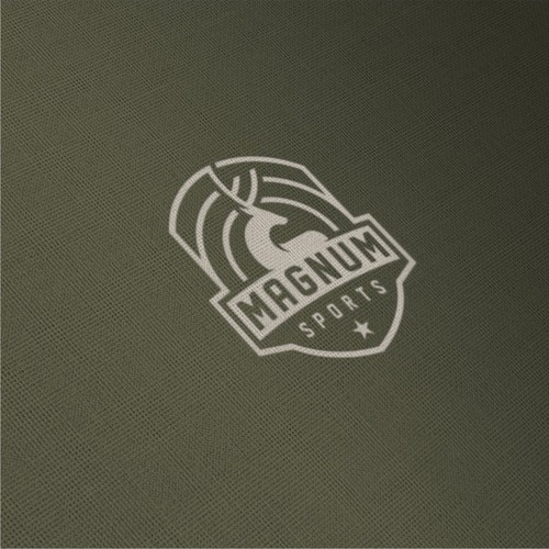 Deer hunting logo with the title 'Magnum Sports'