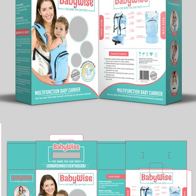 Baby carrier packaging box