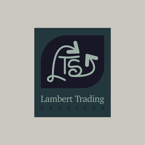 Sketching logo with the title 'Lambert Trading Logo'