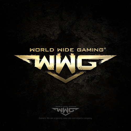 Gaming design with the title 'WWG Gaming new and eSport logo'