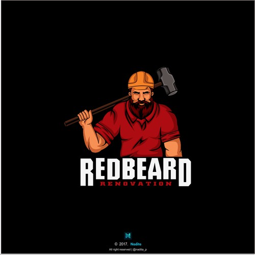 Renovation logo with the title 'Logo for Redbeard renovation'