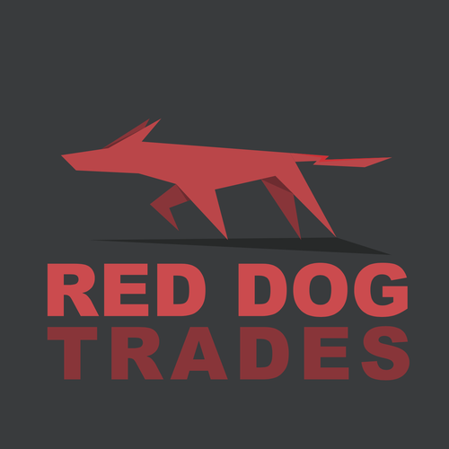Formal logo with the title 'Red dog'