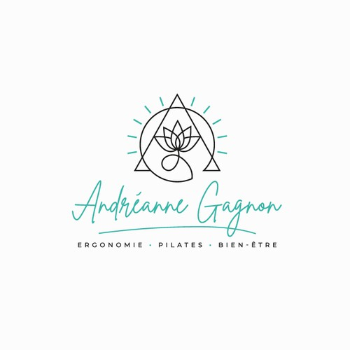 Pilates logo with the title 'Andréanne Gagnon - Logo Design'