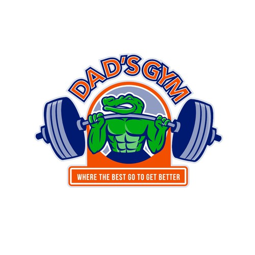 Weightlifting design with the title 'Dad's Gym'