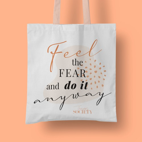 Illustration with the title 'Motivational tote'