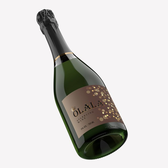 Sparkling wine label with the title 'OLALA'